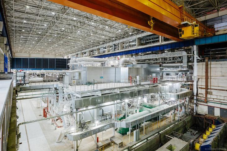 Крупнейшая парогазовая установка в России