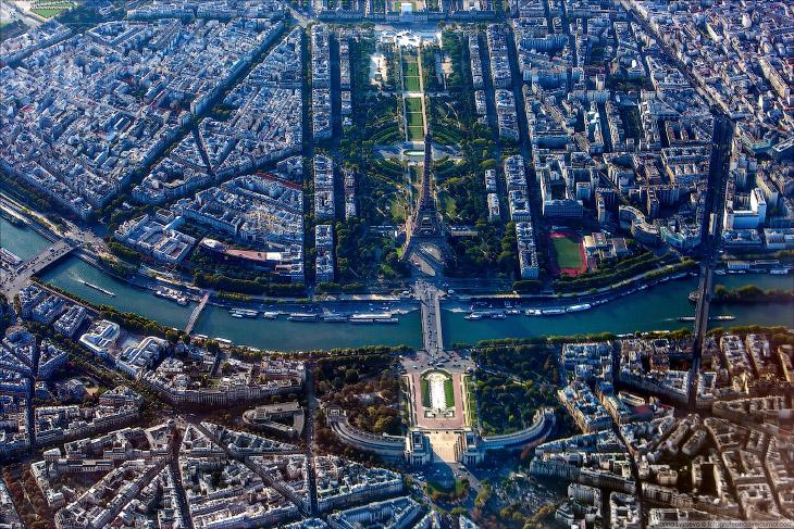 Париж с высоты