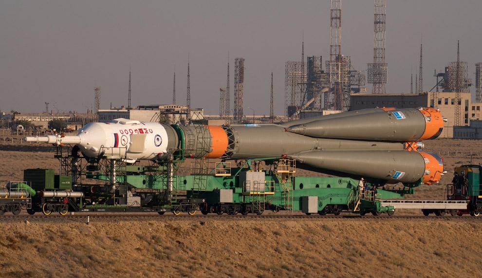Старт российского космического корабля «Союз МС-06»