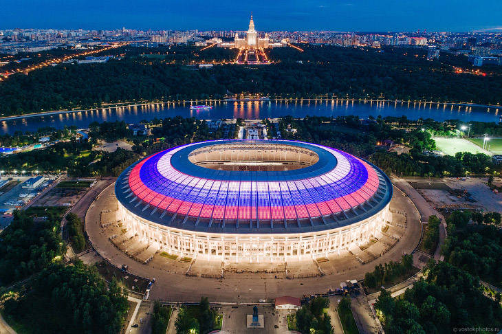 Самый большой стадион в России