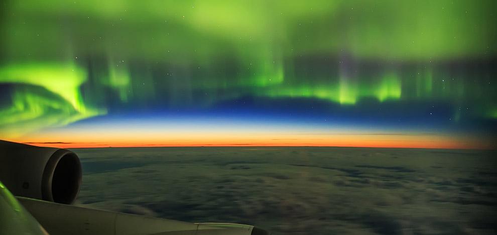 Снято из окна самолета, летящего из Амстердама в Пекин
