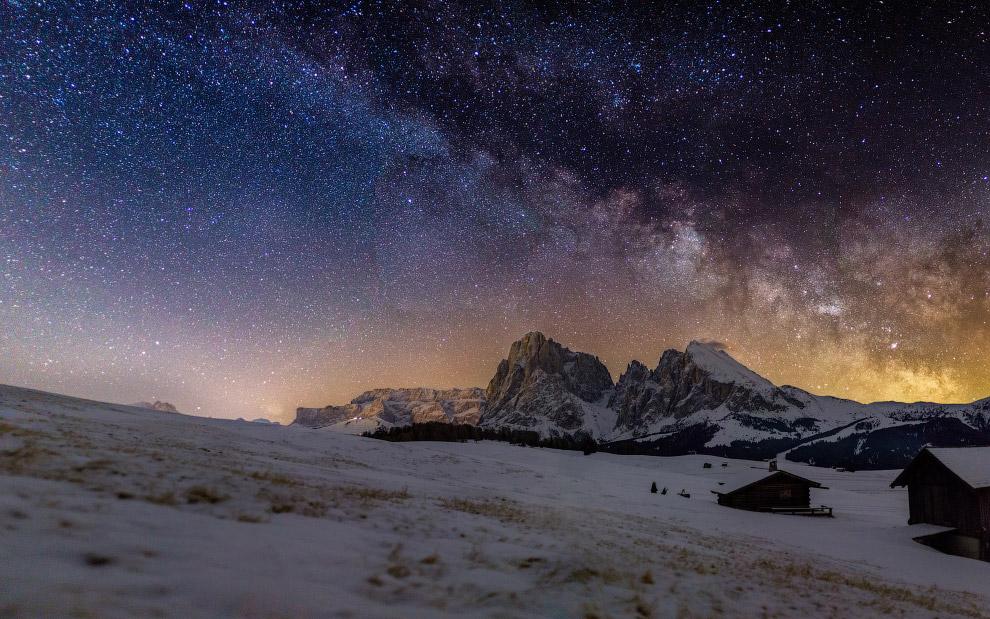 Млечный путь в горах Италии