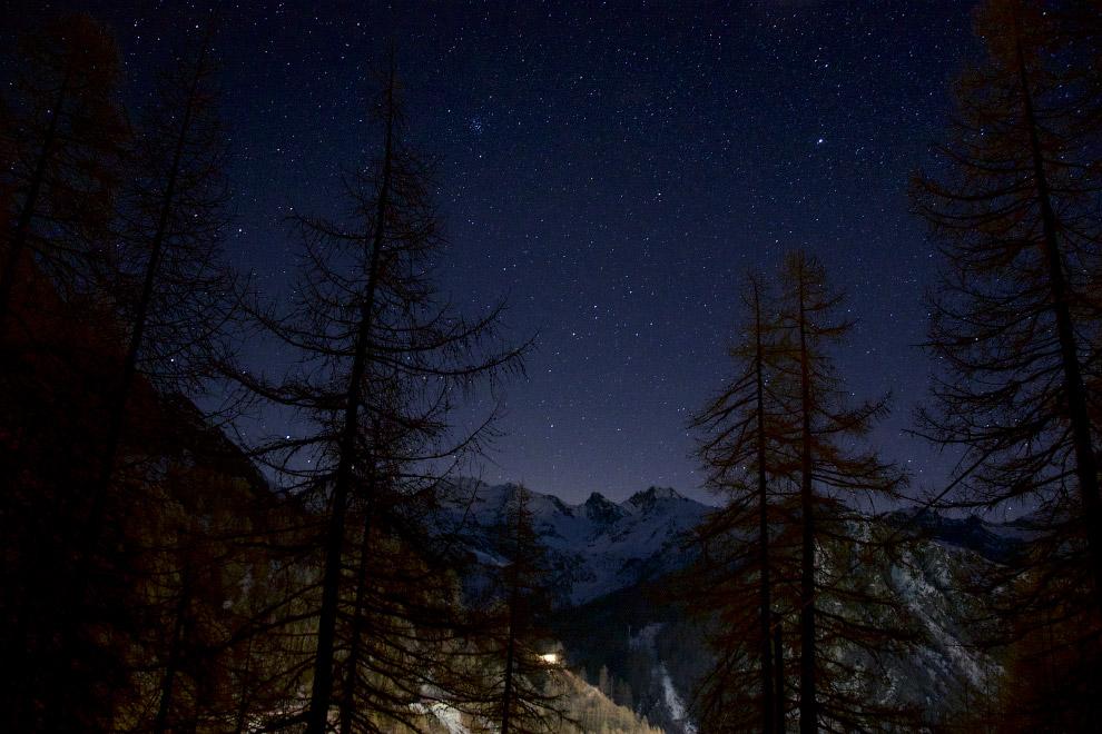 Звездное небо в Альпах