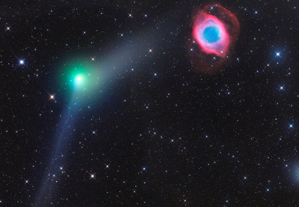 Встреча кометы и планетарной туманности