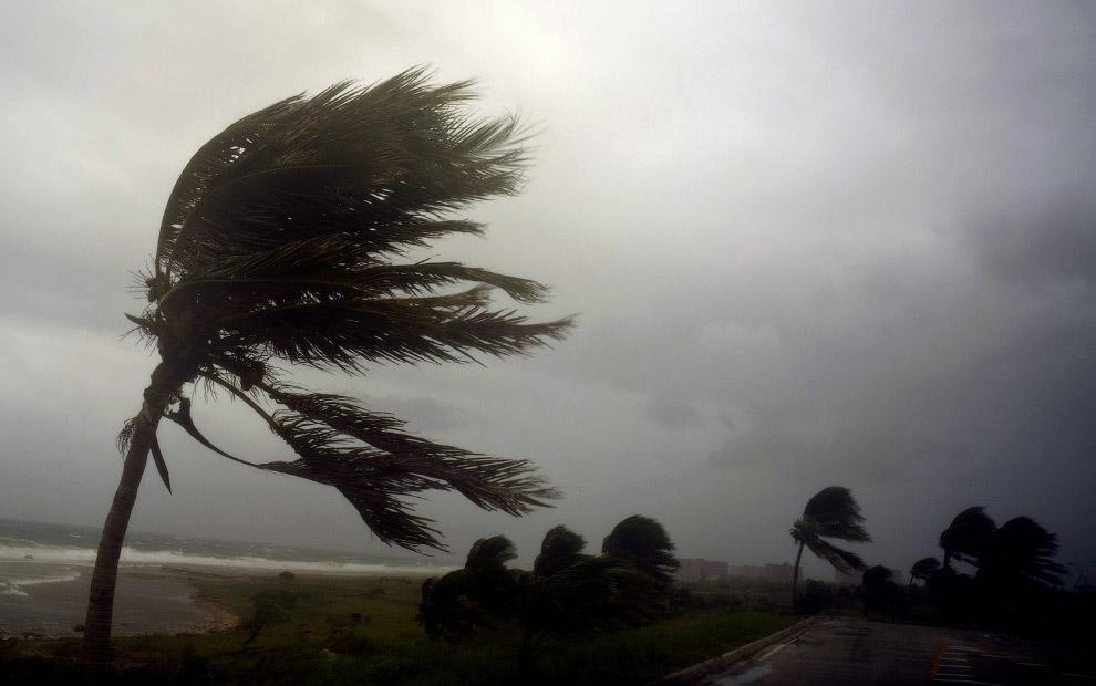Побережье Гаваны по время урагана