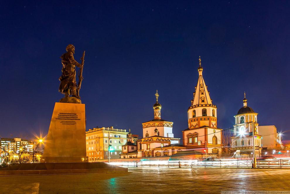 Памятник основателю Иркутска Якову Похабову.