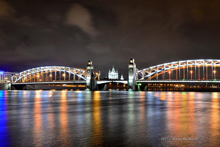 Большеохтинский мост или мост Петра Великого