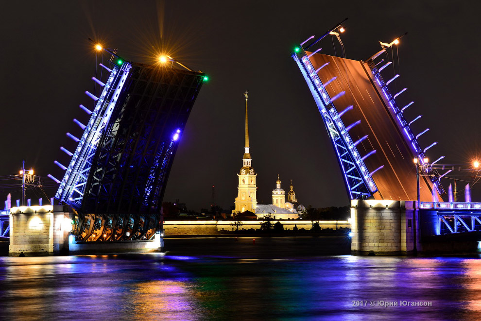 Классический вид Дворцового моста