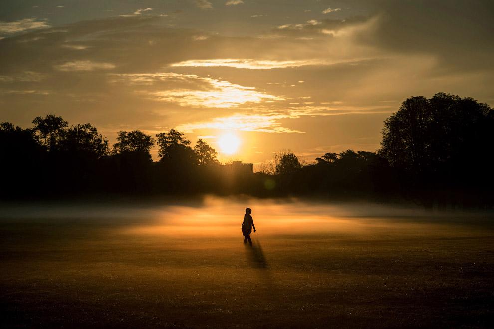 Осенний туман в центре Лиона