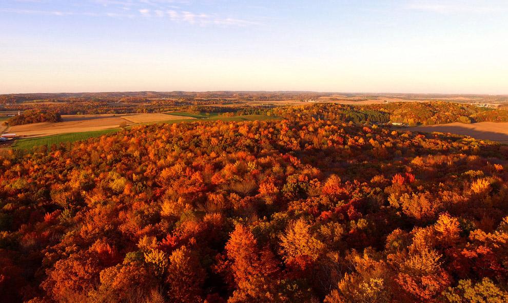 Все краски осени в штате Висконсин, США