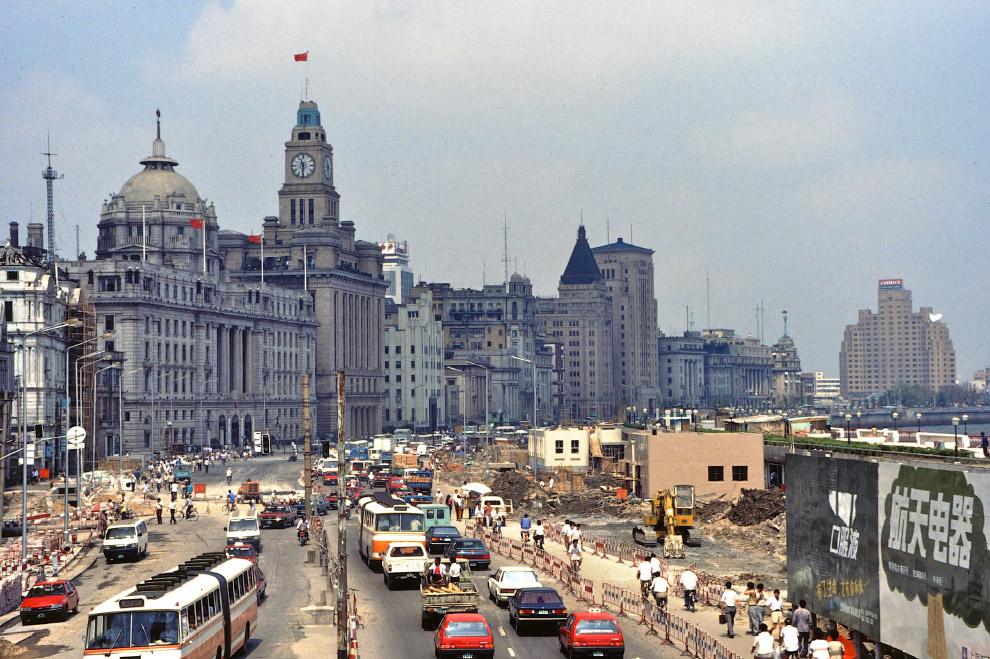 Реконструкция набережной Бунд в Шанхае