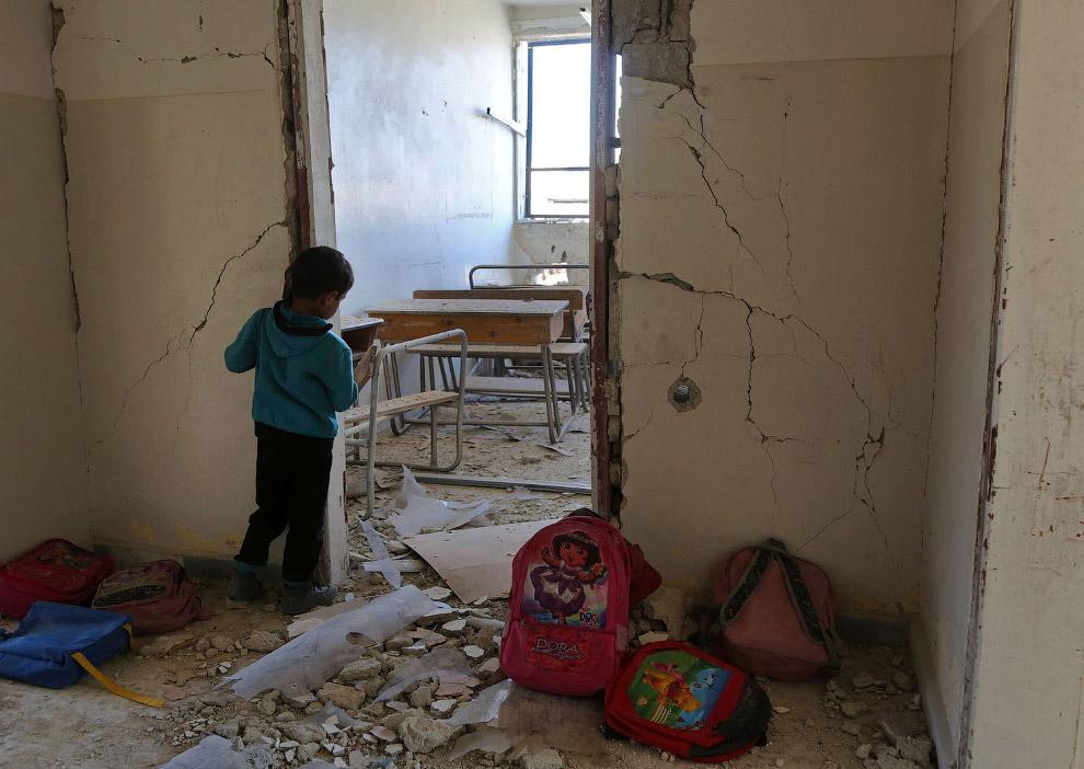 Школьный класс под Дамаском