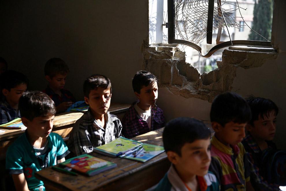Урок в школе в Дамаске
