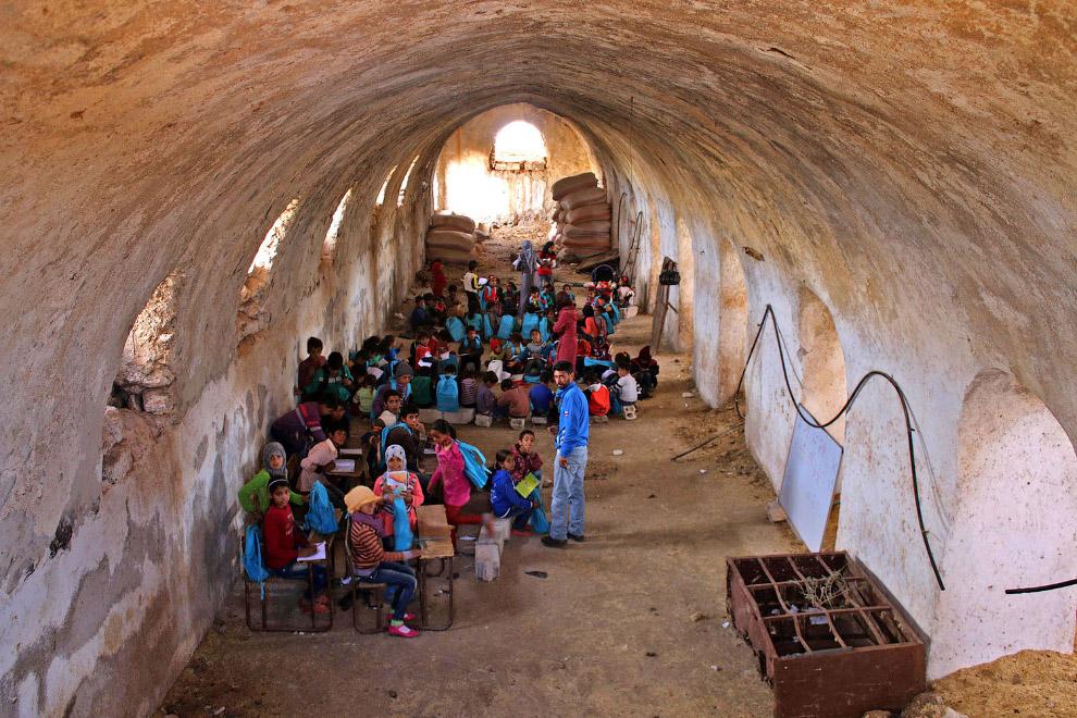 Временная школа на юге Сирии