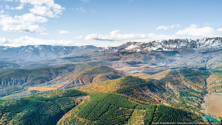 Под снегом - плато Караби