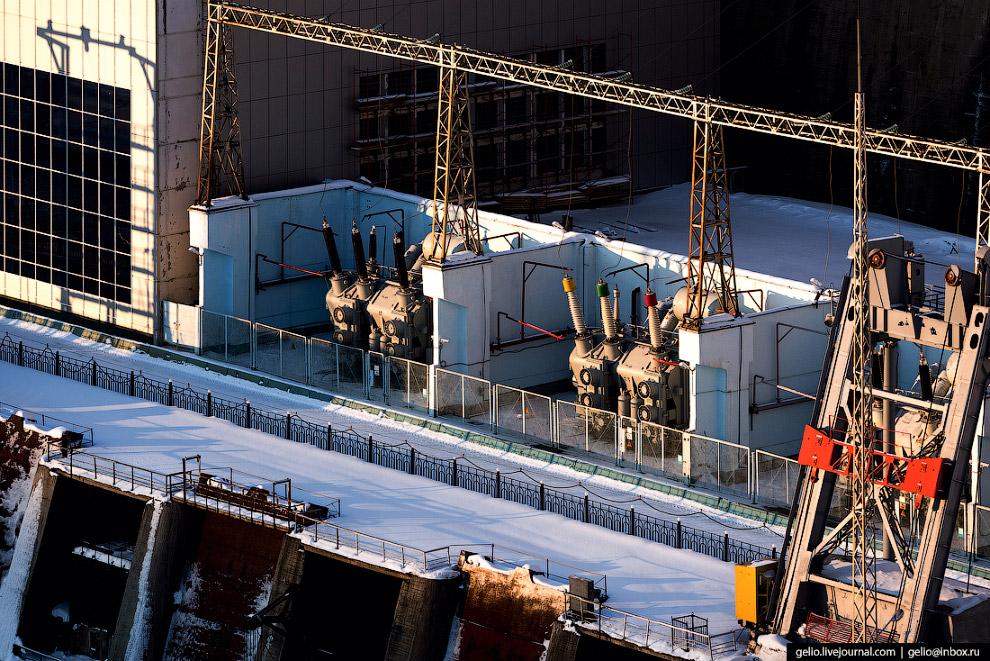 Трансформаторы ГЭС-1.