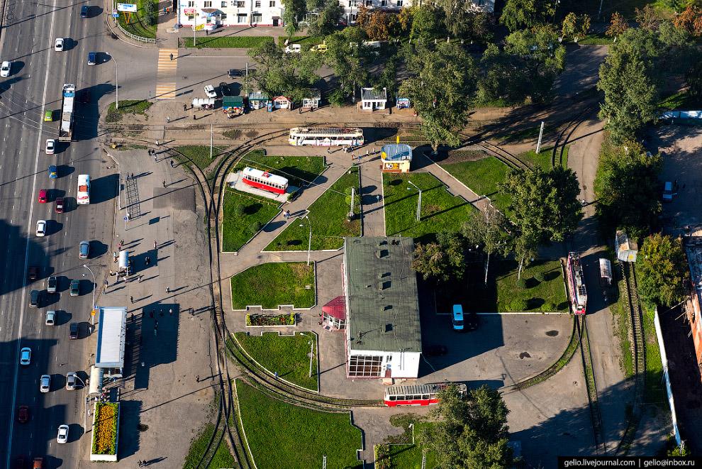 Трамвайное кольцо на Кузнецком проспекте