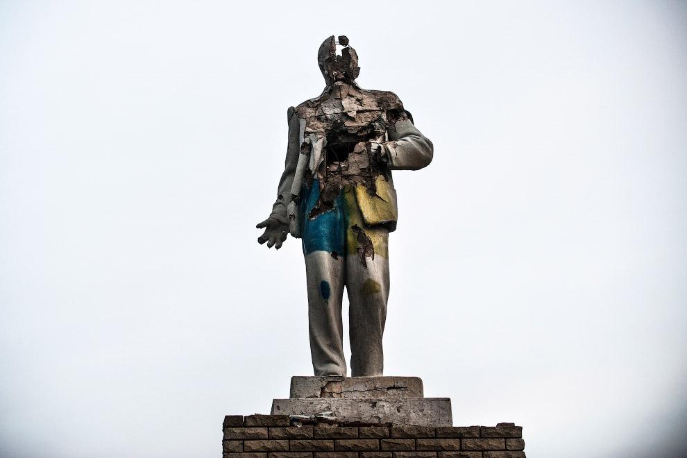 Ленин в Дебальцево, Украина