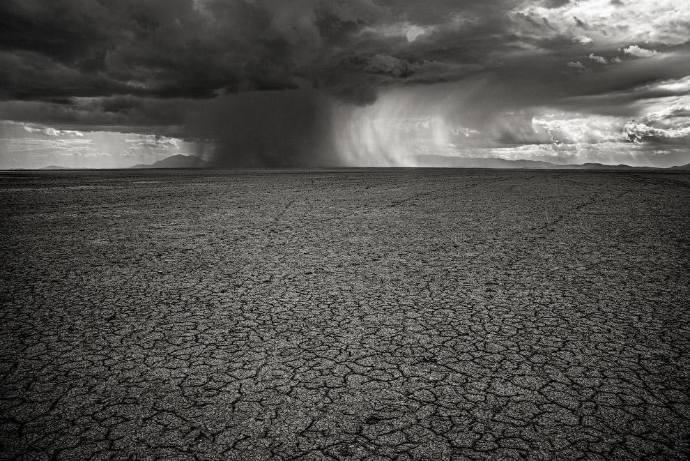 Дожди на границе озера Амбосели в Кении