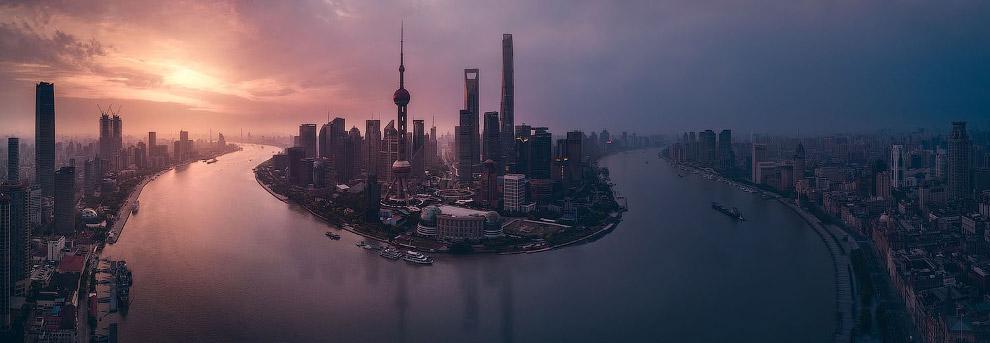 Панорама Шанхая, Китай