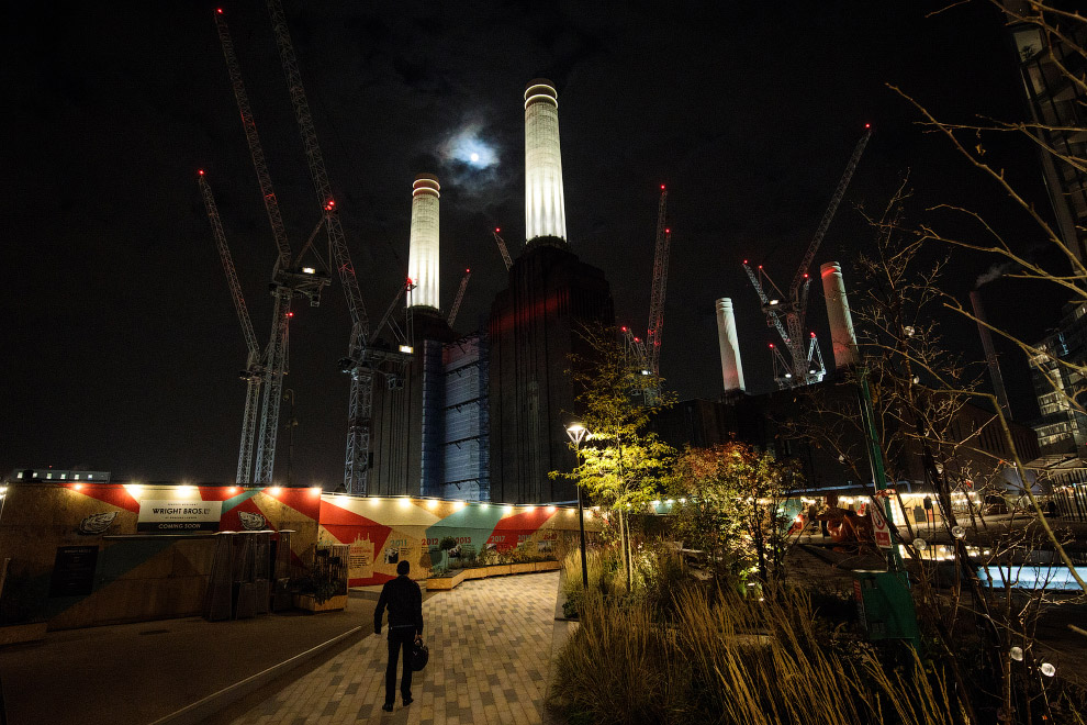 Индустриальный пейзаж в Лондоне, Англия