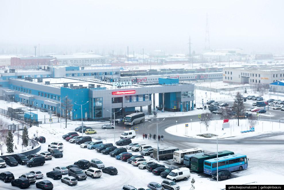 Железнодорожный вокзал станции Новый Уренгой