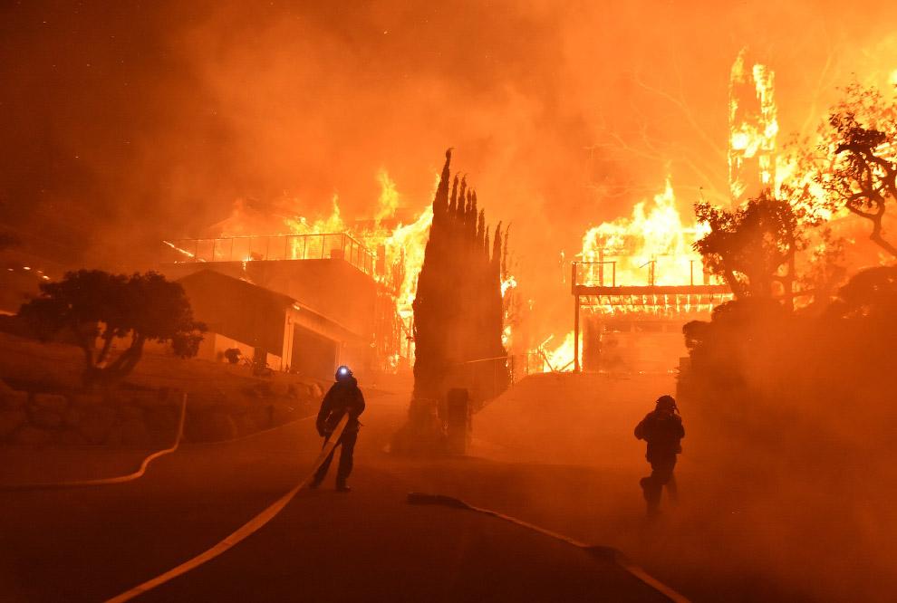 Лесные пожары в округе Вентура, Калифорния