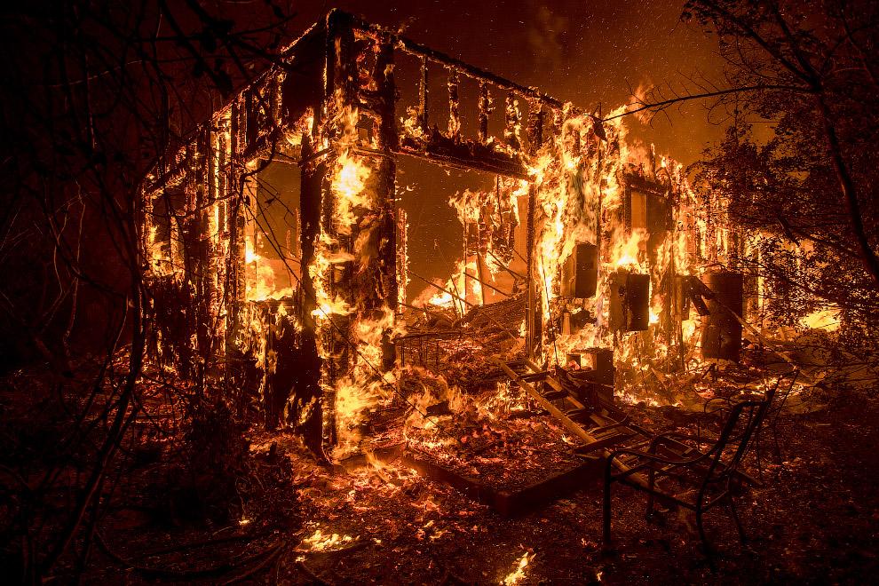 Пожары в Охаи, штат Калифорния