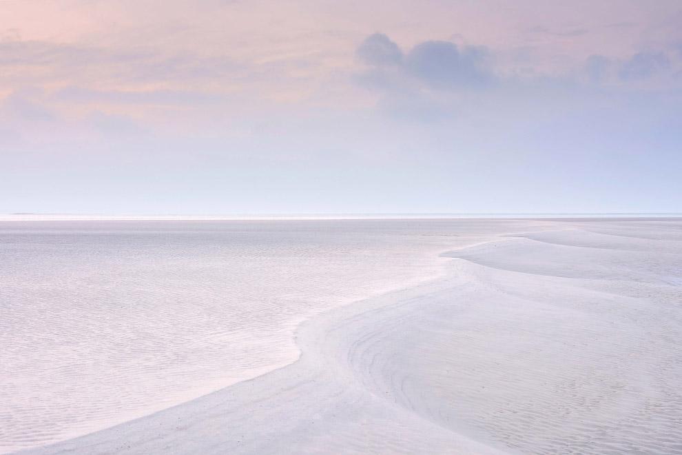 Песчаные формы при отливе в Западном Сассексе, Англия
