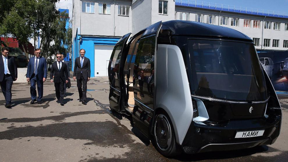 Беспилотный электрический автобус «Шатл»