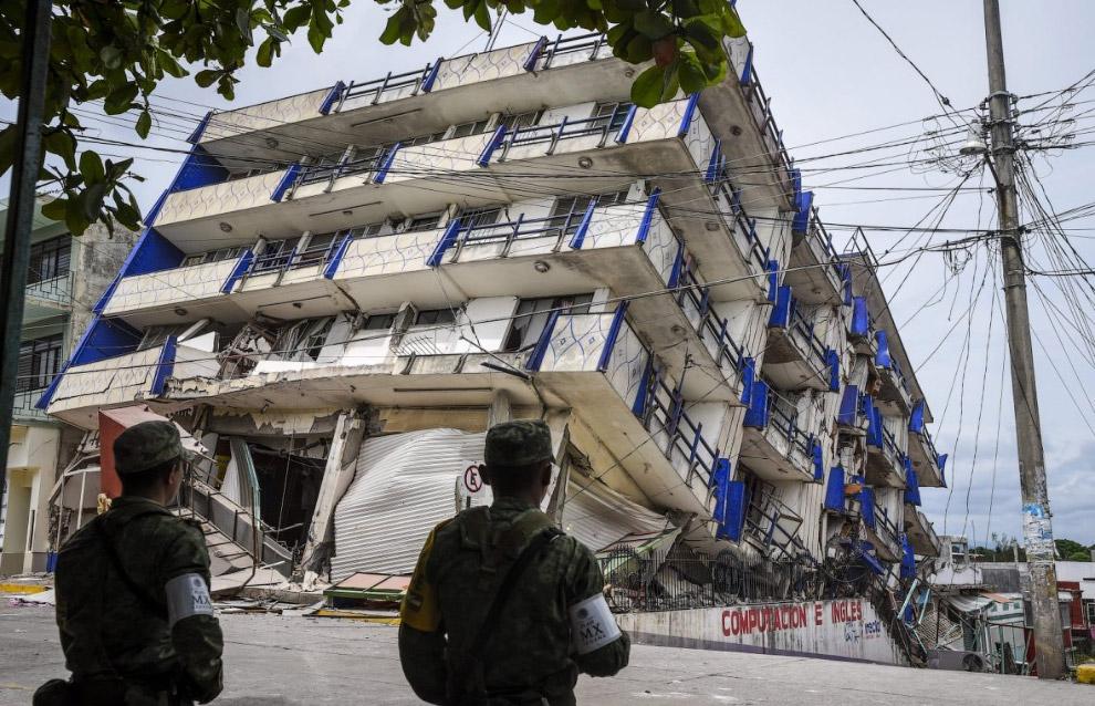 землетрясение магнитудой 8.4 в Мексике