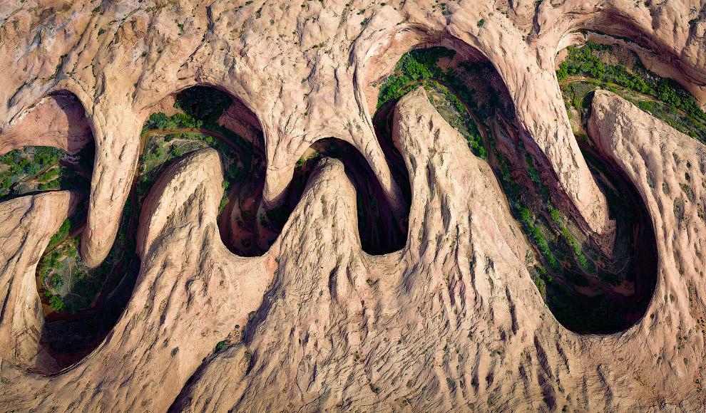 Извилистый каньон в штате Юта