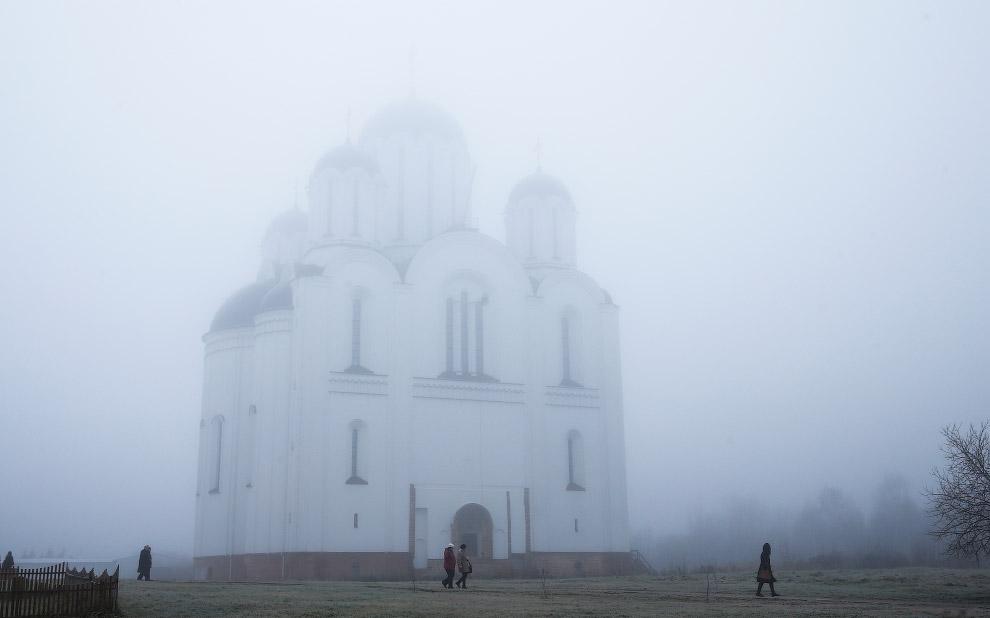 Туман в Минске, Беларусь