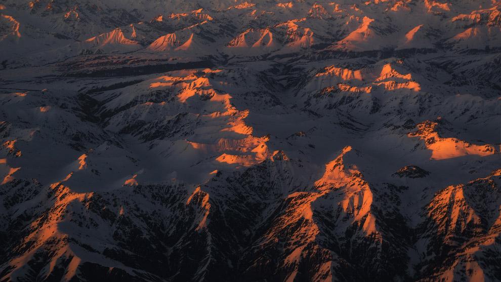 Закат над Монголией.