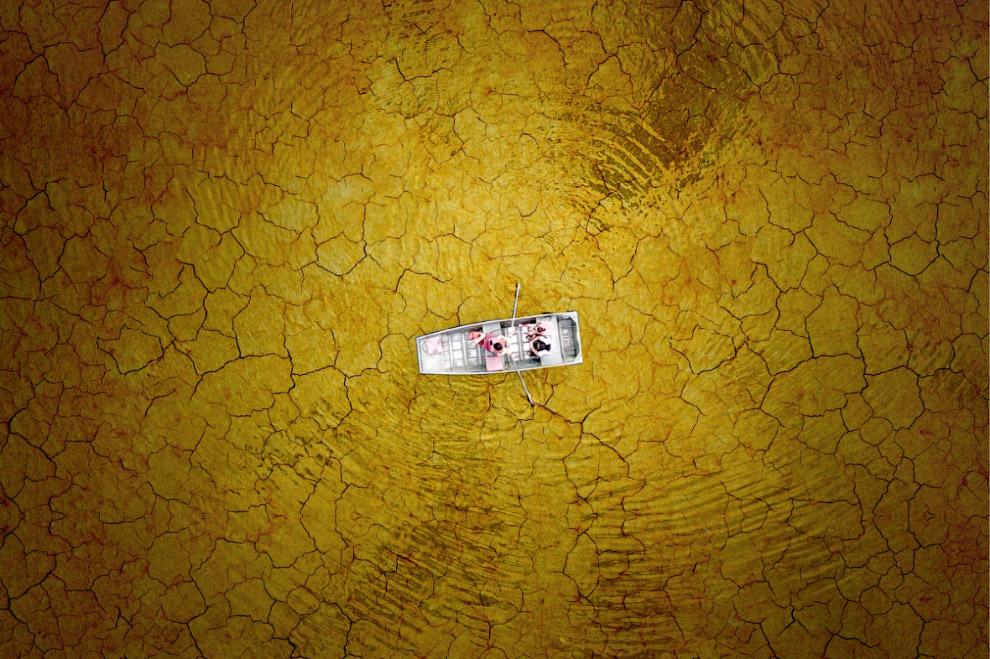 Высохшее озеро Берк, штат Вирджиния, США