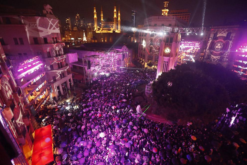 Новый год в центре Бейрута, Ливан