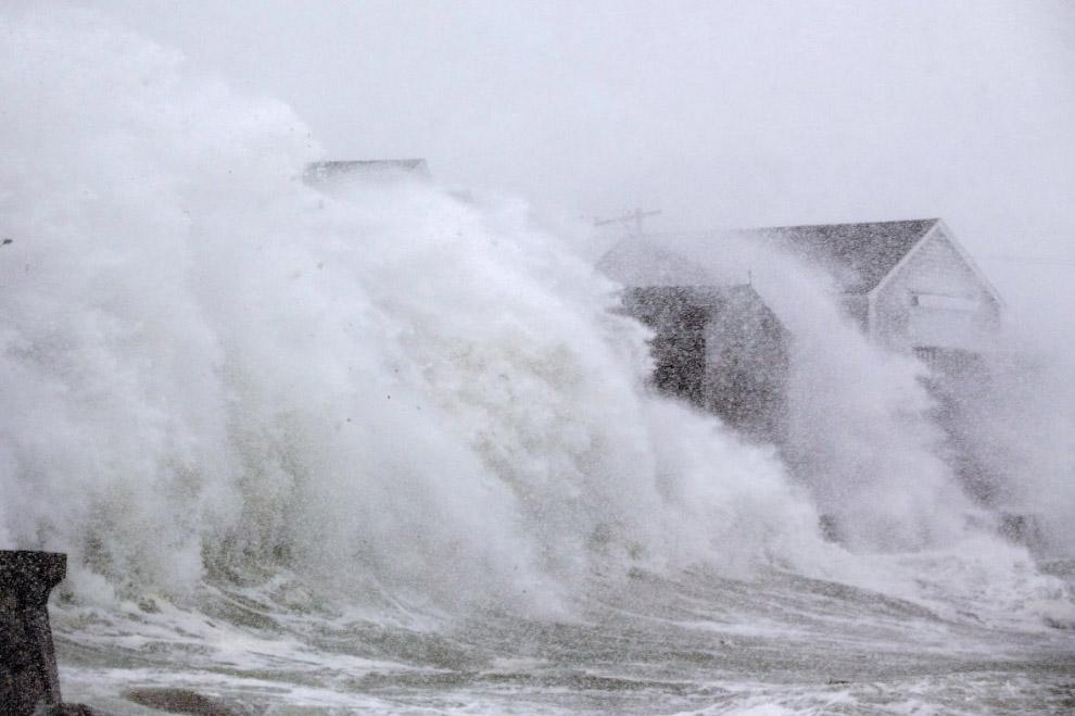 Циклон «Грейсон» в штате Массачусетс
