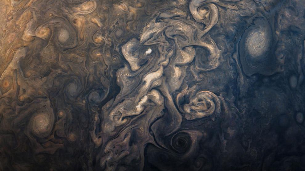 Фотография поверхности планеты Юпитер 9 сентября 2017