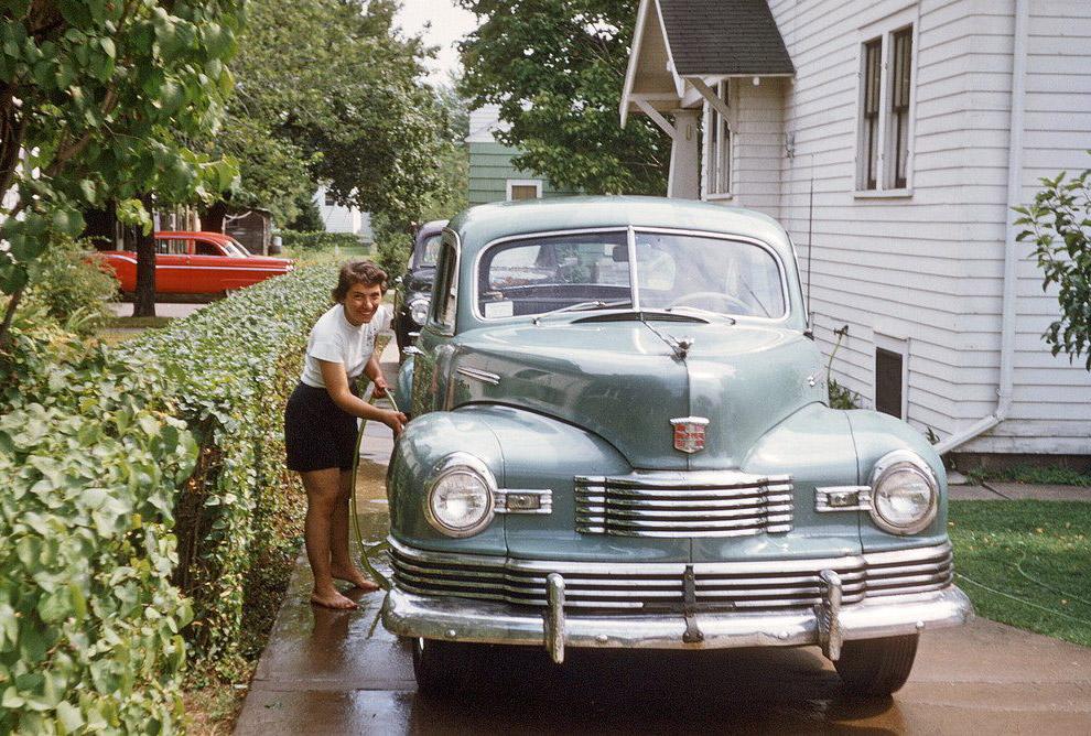 Мойка машины, 1955 год.