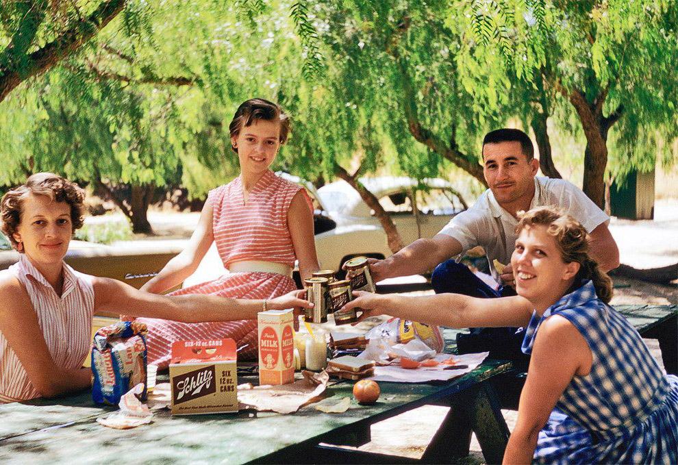 Пикник в Калифорнии, 1959 год.