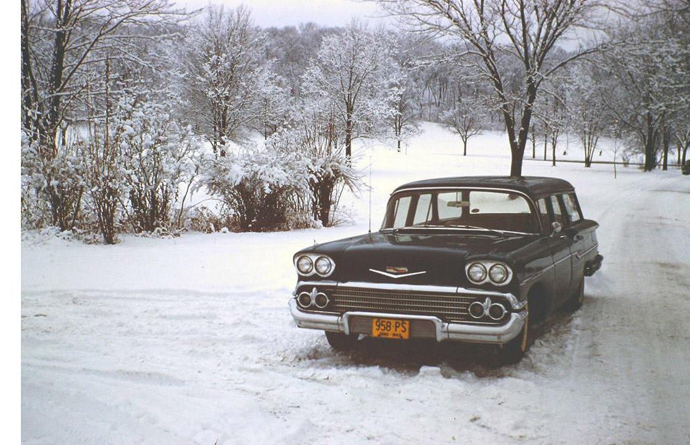Zima w Nowej Anglii.