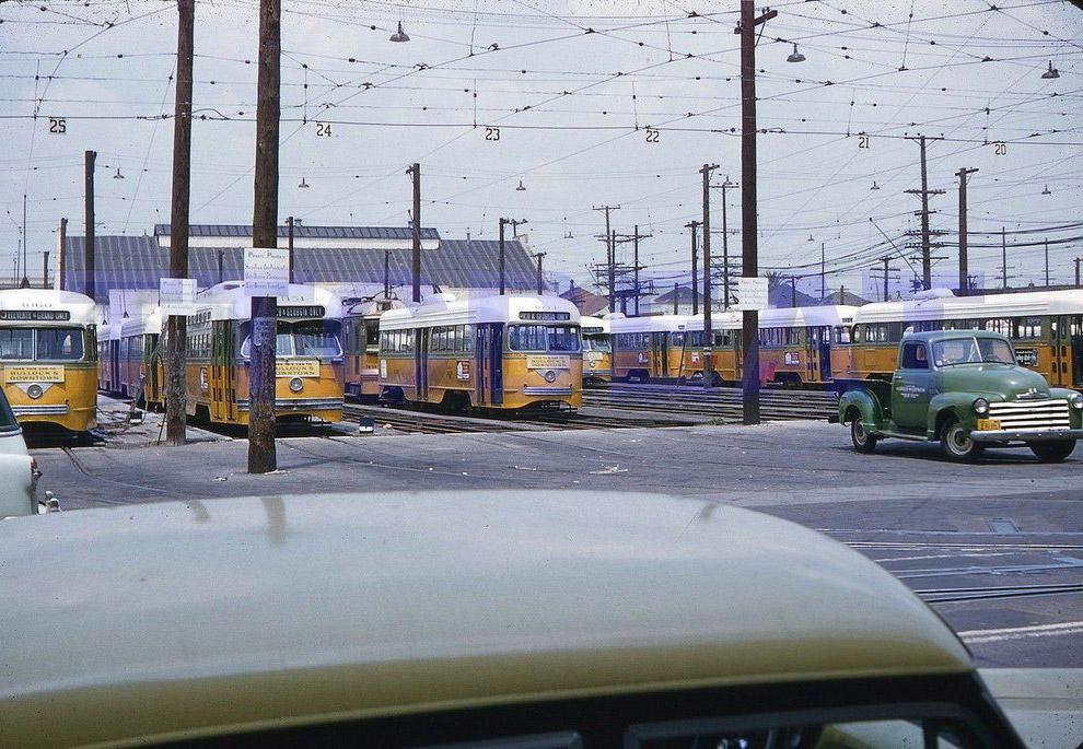 Magazyn tramwajowy w Los Angeles