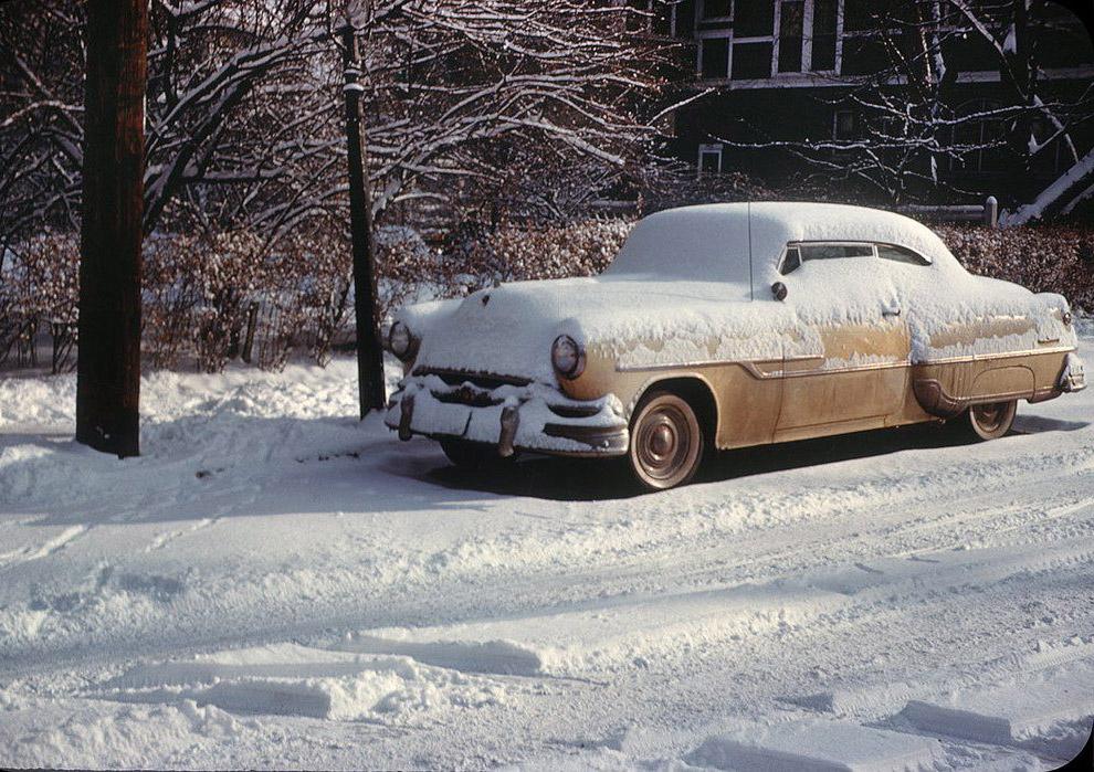 Po opadach śniegu.  Ohio, 1958.