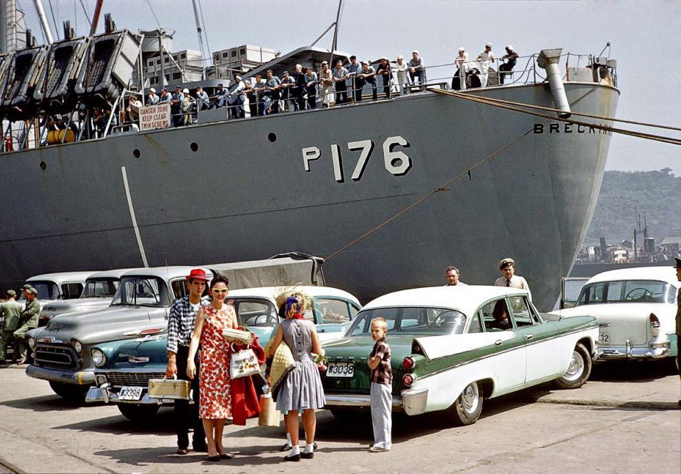 Транспортный корабль ВМС США USNS Breckinridge, 1959 год.