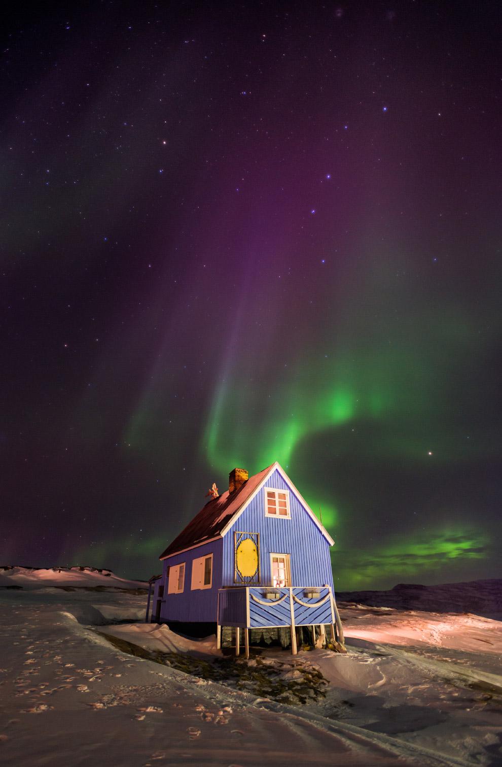 Северное сияние в Гренландии