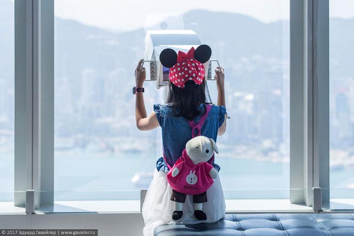 Виды Гонконга с полукилометрового небоскрёба