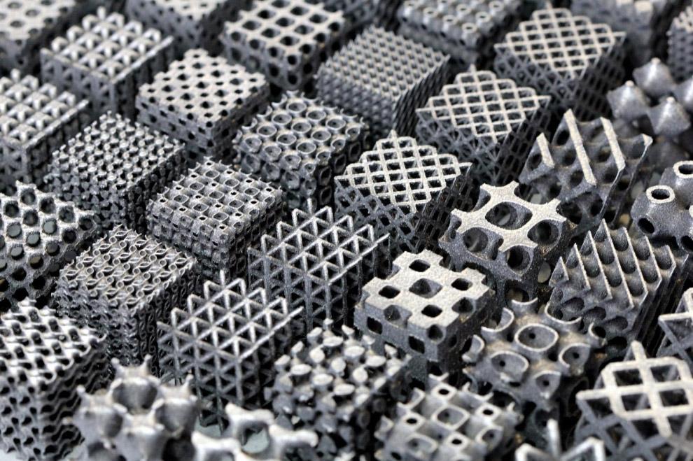 Алюминиевые структуры, изготовленные с помощью трехмерной печати, известной как селективное лазерное плавление