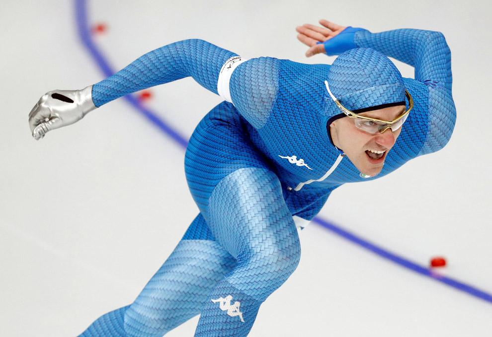 Итальянский конькобежец Мирко Джакомо Ненци