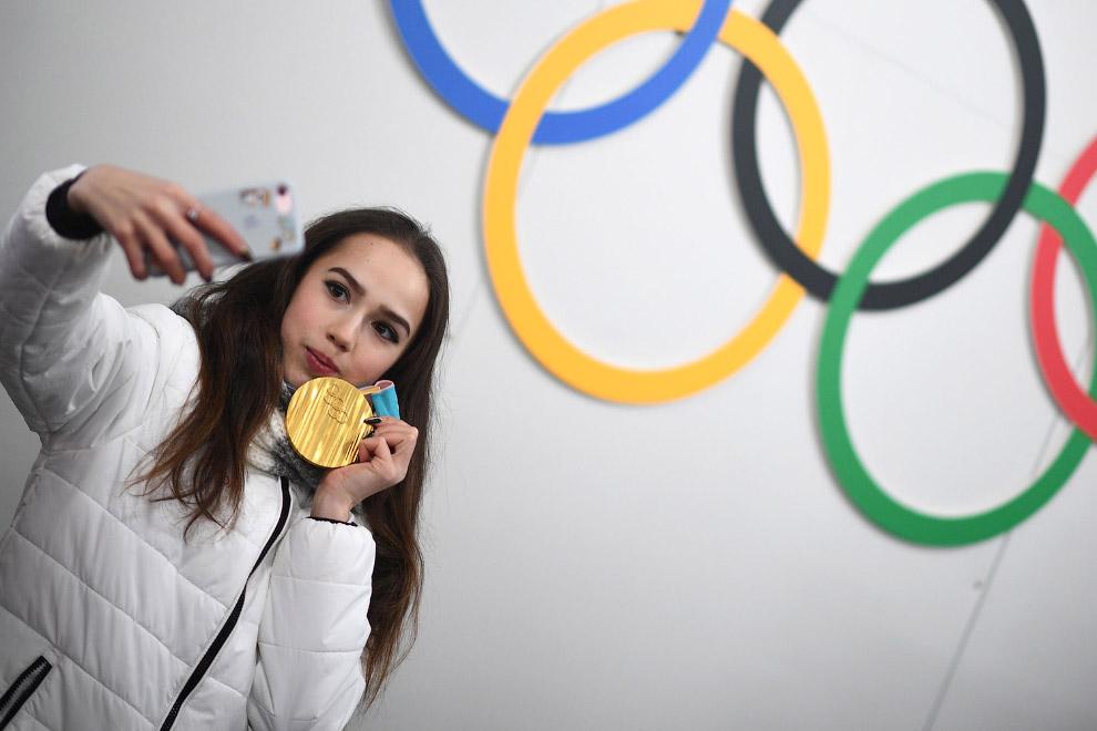Алина Загидова с золотой медалью