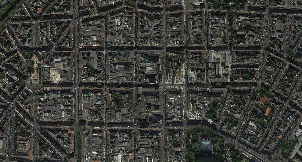 Городской пейзаж Дюссельдорфа.
